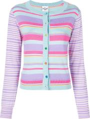 Button Striped Cardigan