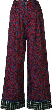 Michel Klein Flared Trousers Women Viscose 36, Red