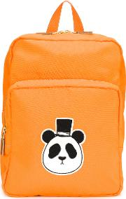 Panda Patch Backpack Kids Recycled Polyester  Yelloworange