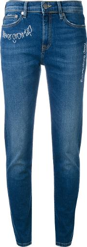 Embroidered Jeans Women Cottonspandexelastane 38, Blue