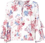 Floral Tied Blouse
