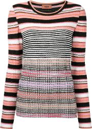 Missoni Striped Longsleeved Knitted Blouse Women Nylonpolyesterviscosewool 40