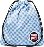 Club Patch Gingham Pouch