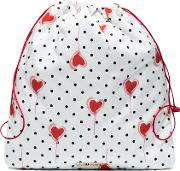 Drawstring Pouch With Polka Dots