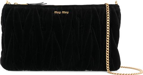 7fa4596813e2 Matelasse Clutch Women Cottonvelvet. Follow miu miu Follow farfetch