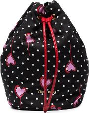 Polka Dot And Heart Pouch