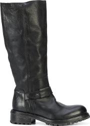 Moma Pull On Boots Women Leatherrubber 36.5, Black