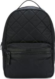 'george' Backpack Men Calf Leatherpolyamide One Size, Black