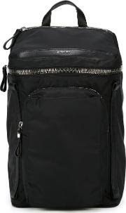 'yannick' Backpack Men Leatherpolyamide One Size, Black