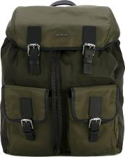 Buckle Detail Backpack Men Nylonpolyester One Size, Green
