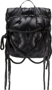 Rucksack With Padded Straps And Rope Detail