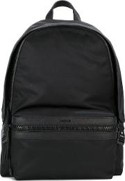 Front Compartment Backpack Men Nylon One Size, Black