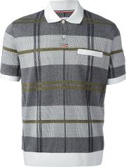 Checked Polo Shirt Men Cotton Xl