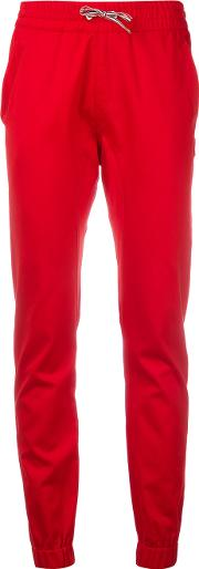Drawstring Trousers Women Cotton 40, Women's, Red