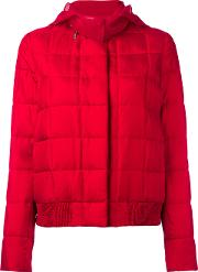 Hooded Jacket Women Silkfeather Downpolyamidepolyester 1, Red