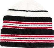 Moncler Grenoble Striped Beanie Men Acrylicvirgin Wool One Size, Black
