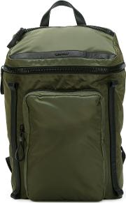 Zipped Backpack Men Polyamidepolyester One Size, Green
