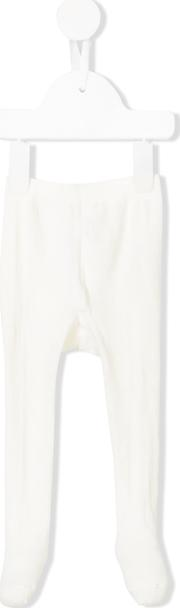 Monnalisa Pyjama Bottoms With Feet Kids Cottonpolyamidespandexelastane 12 Mth, White