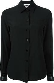 Buckle Cuff Blouse Women Silkpolyesterpolyurethane 40, Black