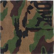 Moschino Camouflage Logo Scarf Men Wool One Size, Brown