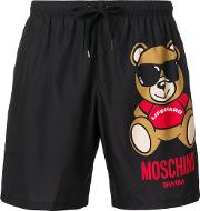 Teddy Print Swimming Trunks