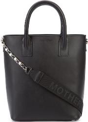 Extra Chain Mini Tote Women Leather One Size, Black