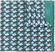 Printed Silk Scarf Men Silk One Size