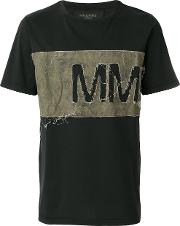 Distressed Chest Panel T Shirt
