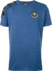 Embroidered Logo T Shirt Men Cotton 50, Blue