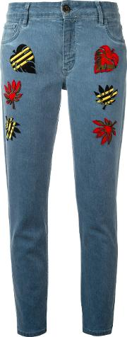 Multipatched Cropped Jeans