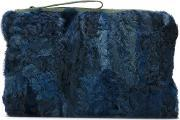 Patchwork Clutch Women Mink Furpolyester One Size, Women's, Blue