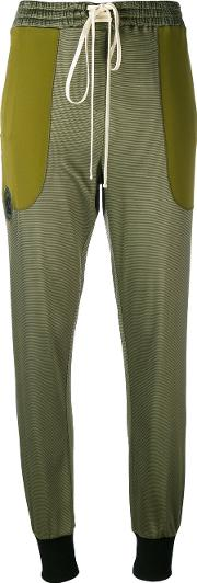 Tapered Trousers Women Cottonpolyesterspandexelastaneviscose M, Green