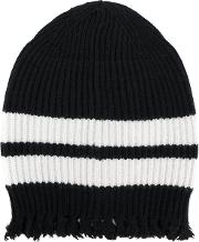 Frayed Knitted Beanie