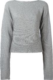 Cropped Jumper Women Cottonpolyesterviscose 38, Grey