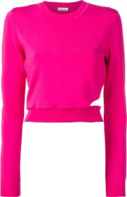 Cut Out Jumper Women Polyamidespandexelastaneviscose 36, Pinkpurple