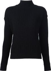 Roll Neck Jumper Women Cashmerewool M, Black