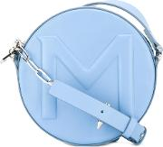 Round Crossbody Bag Women Leather One Size, Blue