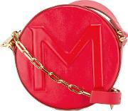 Round Crossbody Bag Women Leather One Size, Women's, Red