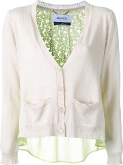 Back Lace Panel Cardigan Women Cottonlinenflax 38, Grey