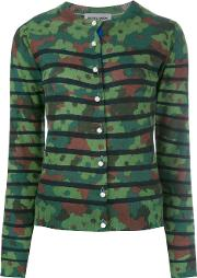 Camouflage Cardigan Women Wool 40, Women's, Green