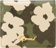 Floral Camouflage Print Wallet Women Calf Leather One Size
