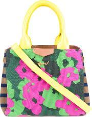 Floral Print Tote Women Cotton One Size