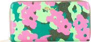 Floral Print Wallet Women Leather One Size