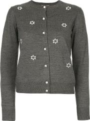 Muveil Applique Star Cardigan Women Acrylicpolyesterwool 38, Grey