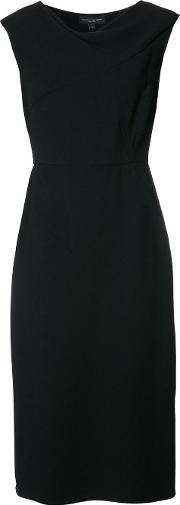 Fitted Cocktail Dress Women Spandexelastane 46, Black
