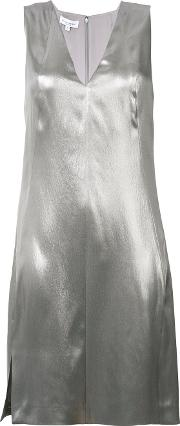 Mercury Metallic Dress Women Silk 48, Grey