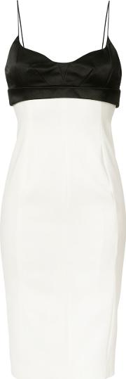 Rear Zip Dress Women Silkpolyamidespandexelastane 40, White