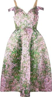 Floral Off The Shoulder Dress Women Nylonpolyester 40, Pinkpurple