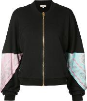 Natasha Zinko Paisley Panel Zip Cardigan Women Cotton S, Black