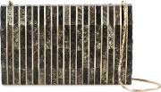 'gustave' Clutch Bag Women Mother Of Pearlmetal One Size